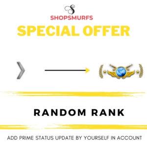 [SPECIAL OFFER]  RANDOM RANK  | NON PRIME ( Add Prime Status Upgrade Yourselves)